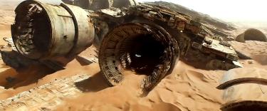 Desert Chase over Millenium Falcon