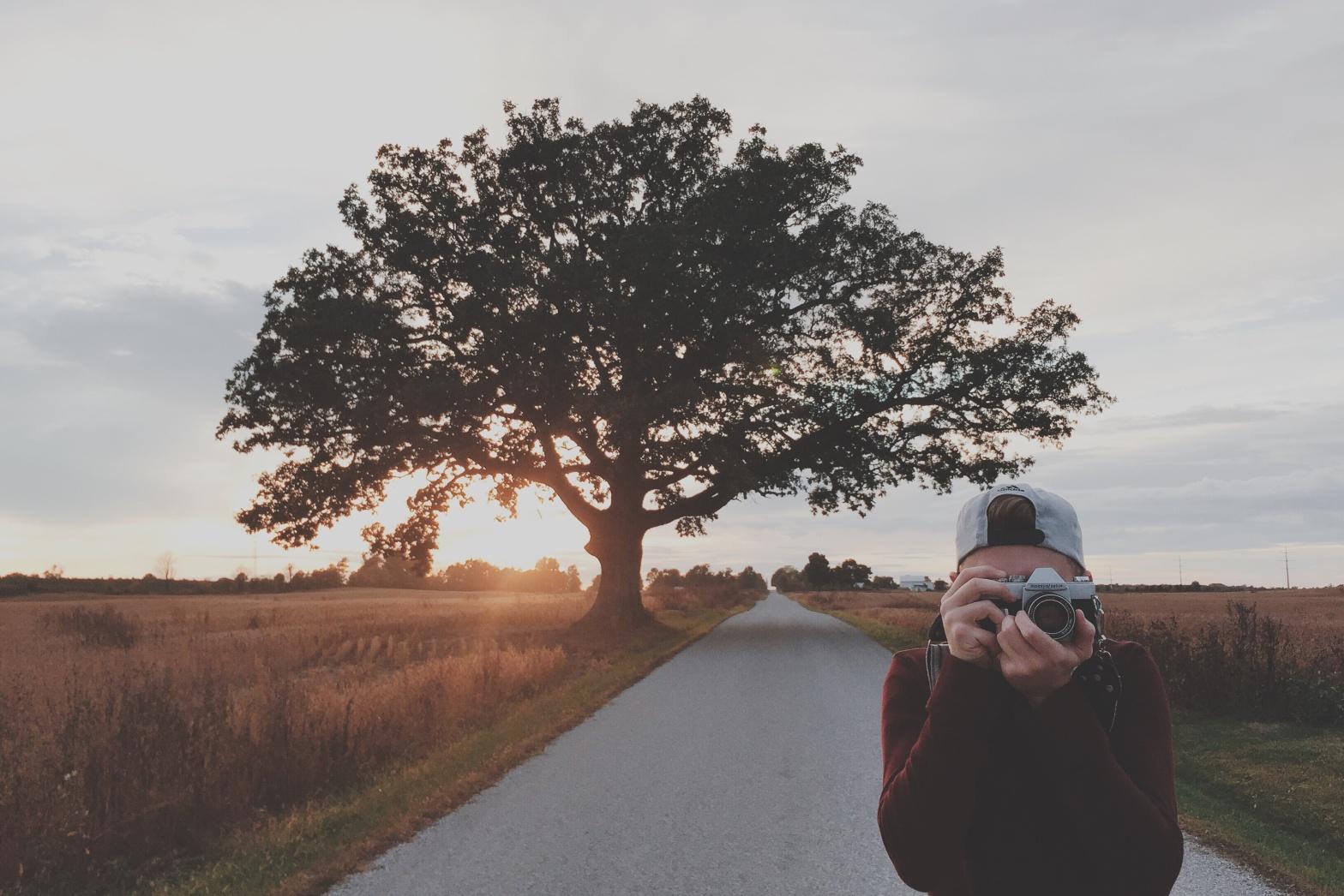 A boy with a camera