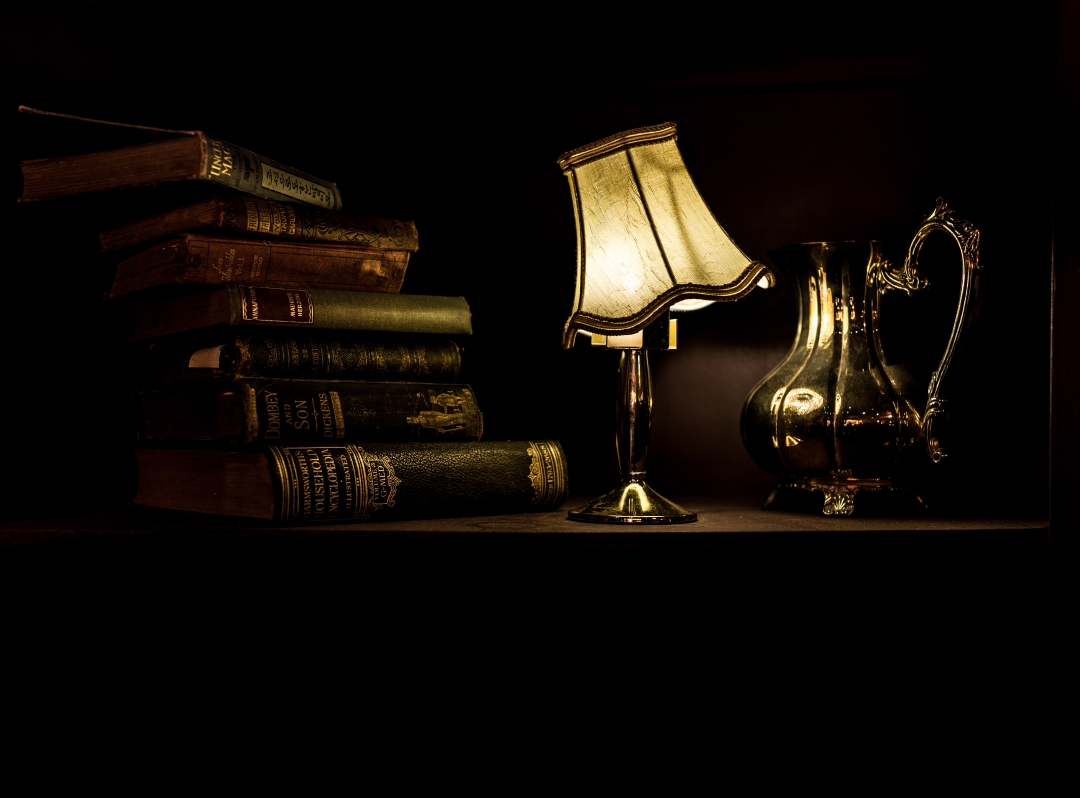 Books and a Lamp