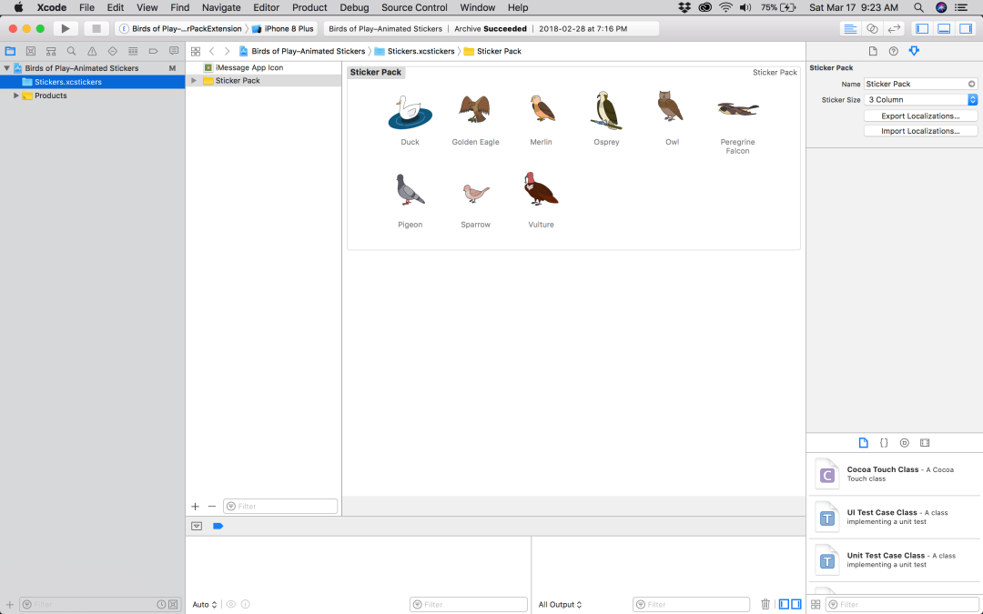 A Screen Shot of Xcode