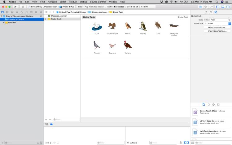 A Screen Shot of Xcode